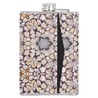 Abstract wood pattern hip flask