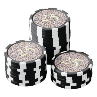 Abstract wood pattern poker chips
