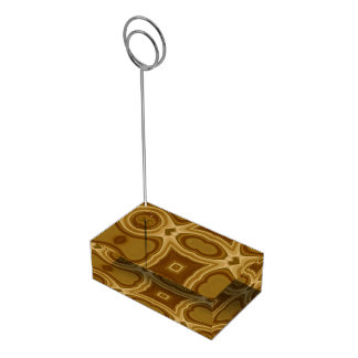 Abstract wood pattern table number holder