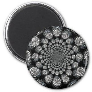 Abstract Worlds Manipulation Three 6 Cm Round Magnet