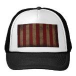 Abstract Worn American Flag Trucker Hats