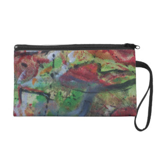 Abstract Wristlet Purse ~ Design by ValAries