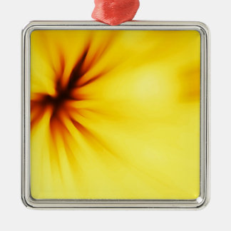 Abstract yellow background christmas ornament