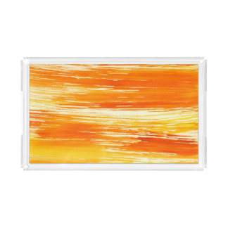 Abstract yellow background from watercolor acrylic tray