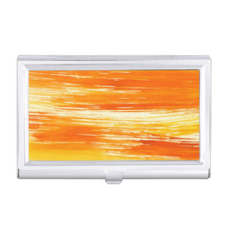 Abstract yellow background from watercolor business card holder