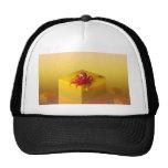 Abstract Yellow Box Mesh Hats