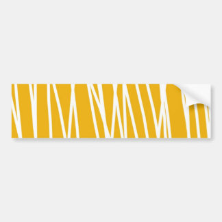 Abstract yellow bumper sticker