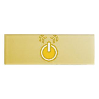 Abstract Yellow Icon Name Tag