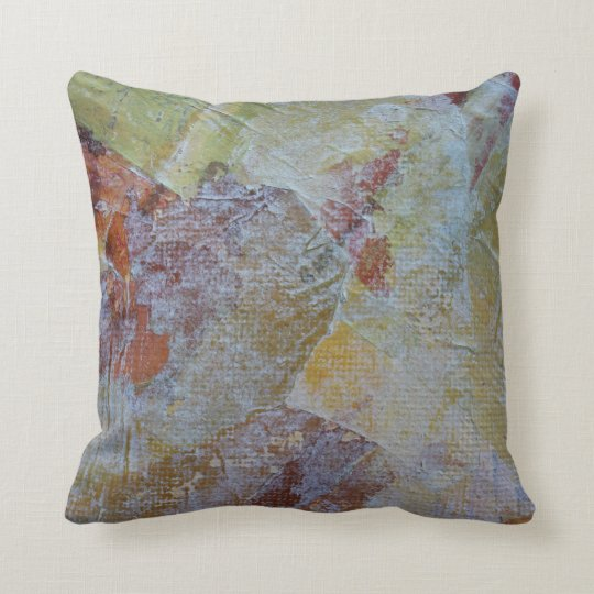 Abstract Yellow & Orange Scratch Pillow