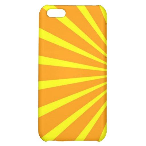Abstract yellow orange sunshine solar rays case iPhone 5C case