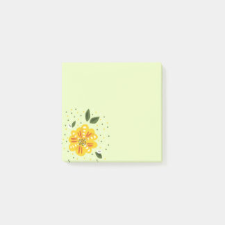 Abstract Yellow Primrose Spring Flower Post-it Notes