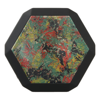 Abstract Yellow & Red Black Bluetooth Speaker