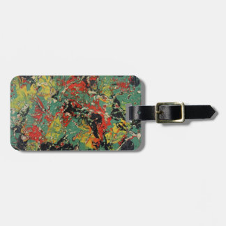 Abstract Yellow & Red Luggage Tag