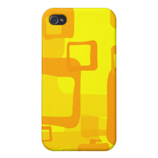 Abstract Yellow Shapes iPhone 4 Case