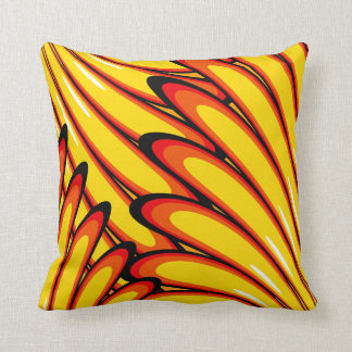 abstract yellow sunflowers pillow throw cushions