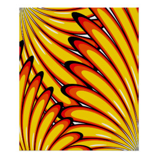 abstract yellow sunflowers poster