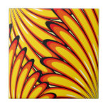 abstract yellow sunflowers  tile