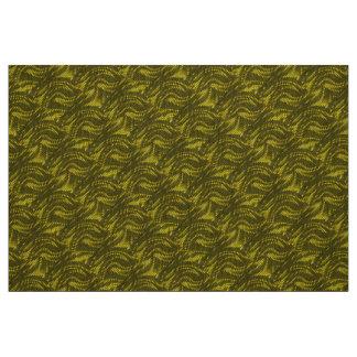 Abstract yellow Swirl Pattern Fabric