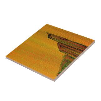 Abstract Yellow Tile