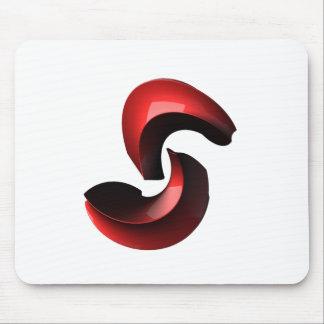 Abstract Yin Yang Mousemat
