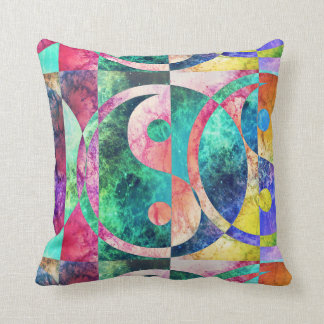 Abstract Yin Yang Nebula Throw Pillow