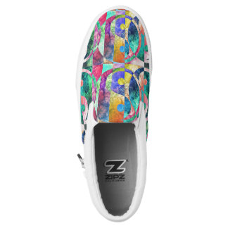 Abstract yin Yang Nebula ZIPZ Printed Shoes