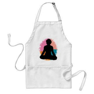 Abstract Yoga Girl Standard Apron