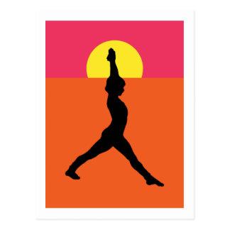 Abstract Yoga Pose Postcard