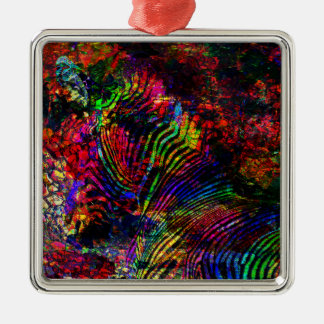 Abstract Zebra Christmas Ornament