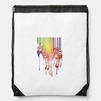 Abstract Zebra Drawstring Backpack