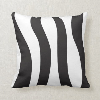 Abstract Zebra Print Throw Pillow