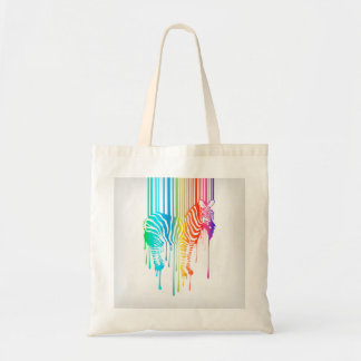 Abstract Zebra With Barcode Budget Tote Bag