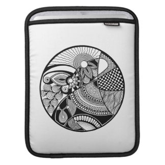 Abstract Zendala On Circle iPad Sleeve