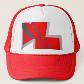 Abstract Zig Zag Art Trucker Hat