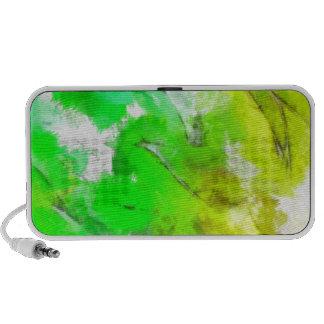 Abstracted Fresh Green Leaves Laptop Speakers