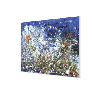 Abstracted Storm at sea Canvas Print