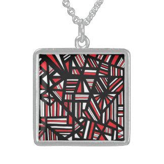 ABSTRACTHORIZ (531).jpg Square Pendant Necklace