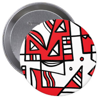 ABSTRACTHORIZ (592).jpg 10 Cm Round Badge