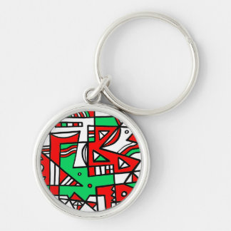ABSTRACTHORIZ (592).jpg Silver-Colored Round Key Ring