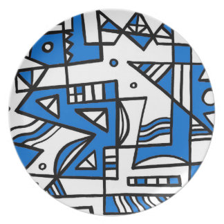 ABSTRACTHORIZ (592).jpg Party Plate