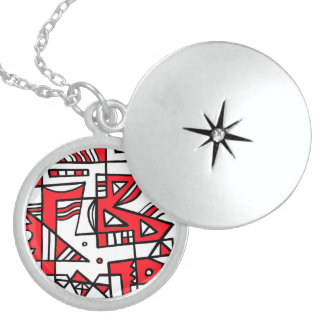 ABSTRACTHORIZ (592).jpg Round Locket Necklace