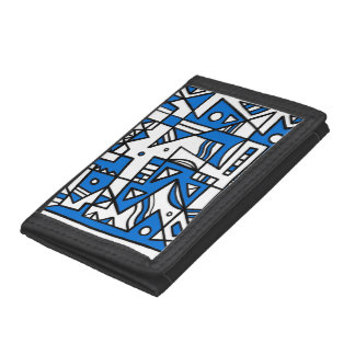 ABSTRACTHORIZ (592).jpg Tri-fold Wallet