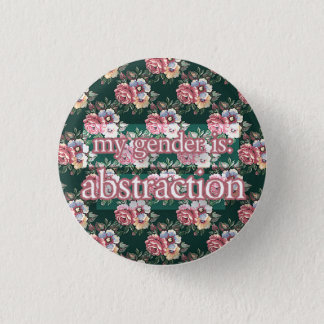 abstraction 3 cm round badge