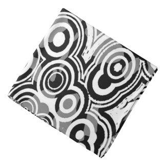 Abstraction Art Black And White Circles Bandana
