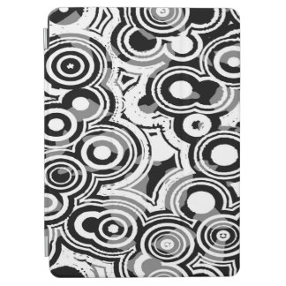 Abstraction Art Black And White Circles iPad Air Cover