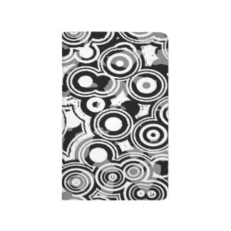 Abstraction Art Black And White Circles Journals