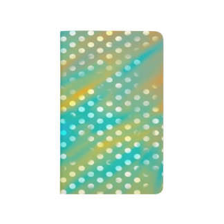 Abstraction Art Blue And Brown White Polka Dots Journal