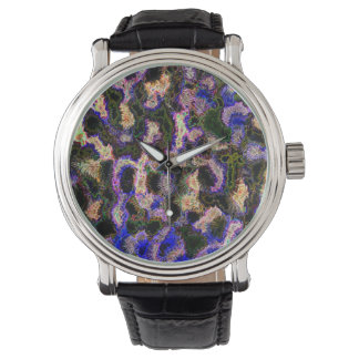 Abstraction Art Blue Background Watch