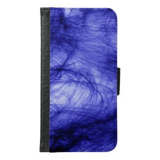 Abstraction Art Blue Haze Samsung Galaxy S6 Wallet Case
