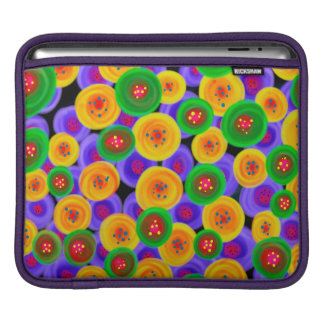 Abstraction Art Bright Yello Green And Blue Circle iPad Sleeve
